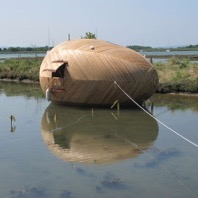 Exbury Egg on location on River Beaulieu at Exbury, Hampshire, 2014
