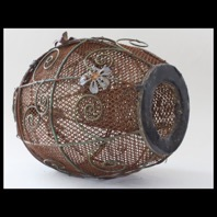Stephen Turner, Crab Trap, Egg shaped metal cage, 2015, 240mm x 140mm